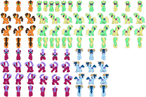 Horoscope Pony Sprites Pack 02 by GirlAnimePrincess