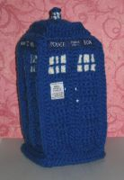 Amigurumi TARDIS w/video of sound card by Craftigurumi