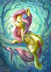 Fluttershy the Forest dryad by Drawirm