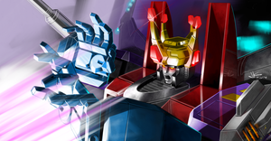 'Here's a hint.' - Starscream's final moments by masarujasu