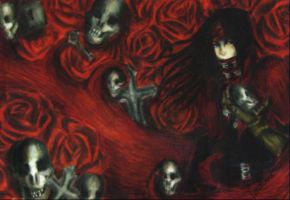 Deathly roses by Crimson-rose-x