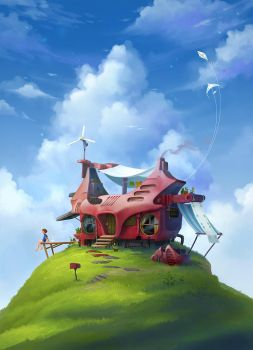 House On A Hill by sandara