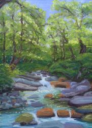 Laurel River Smoky Mountains Tennessee by Jlombardi