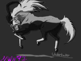 Undertaker Horse by nightwindwolf95