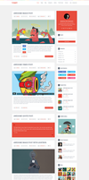 Logger Flat Blog Template Homepage1 by begha