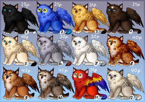 Gryphon cubs [OPEN 3/12] by Goldenflake