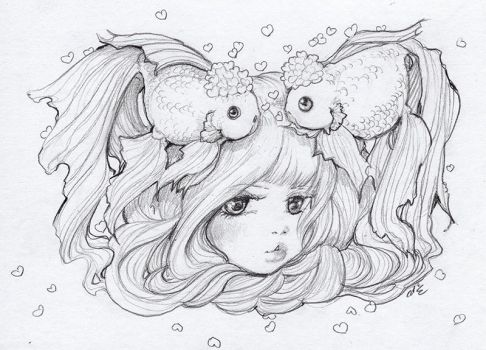 Two Goldfish by camilladerrico
