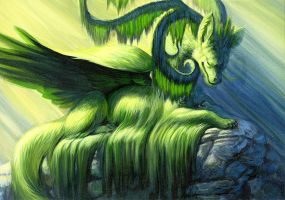 Moss Dragon by hibbary