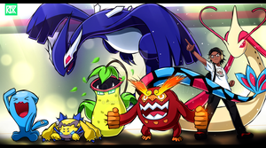 TyranitarTube - The final Team [Art Request] by Kortrex