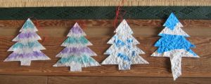 Handmade Paper Christmas Trees by SineSquared
