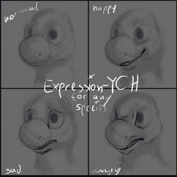 Expression-Icon YCH Auction OPEN by Thalliumfire