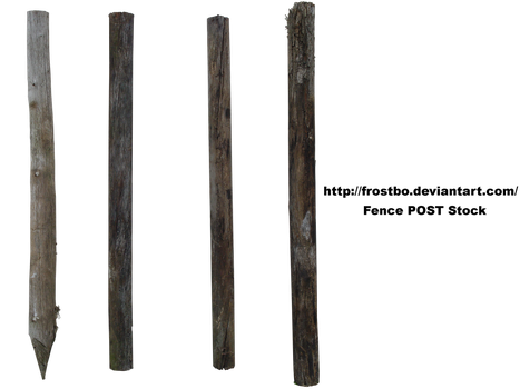 Fence POST Stock 01 by FrostBo