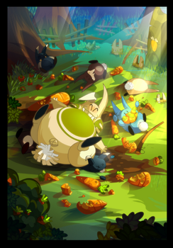 Dofus postcard 'wabbit' by tchokun