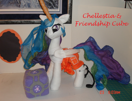 Chellestia + Cube: Crossover MLP Plushie Contest by The-Crafty-Kaiju