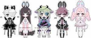 kemonomimi doll adoptable batch  CLOSED by AS-Adoptables