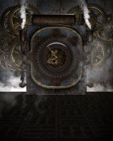 Steampunk Background 1 by Kachinadoll