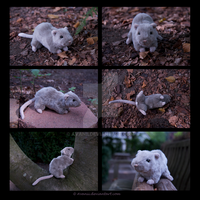 FOR SALE Plushie: Pebbles the Rat by Avanii