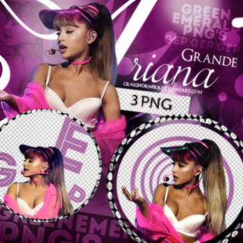 PNG Pack (65) Ariana Grande by CraigHornerr