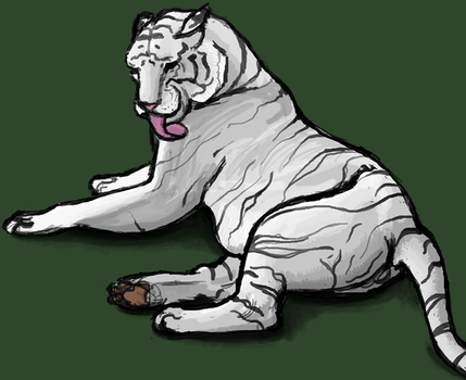 White Tiger by OrcaTeeth