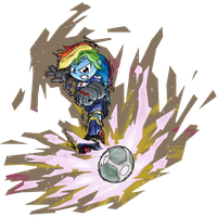Rainbow Dash in Mario Strikers Charged [Coloured] by GamefreakDX