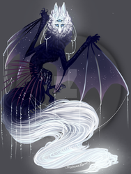 QuillDog Design: Astral Witch's Familiar Deity by MischievousRaven