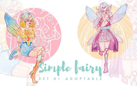TWIN FAIRY Adoptables Auction (OPEN) by MeciLeu