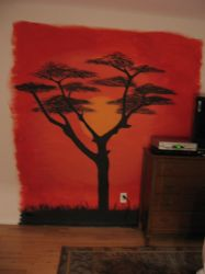 African Sunset Mural by ChelliChan