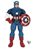 Captain America Color by Kaufee