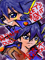 Dub vs Sub Yusei by iheartebil
