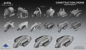 Construction Drone Thumbs by NateHallinanArt