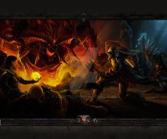 Diablo Dungeon Go Launcher Wallpaper 3 by Jekmyster