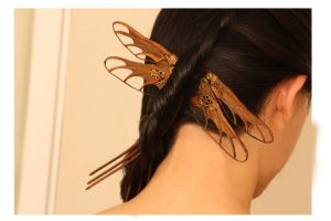 Dragonfly Hairpiece Set by Tofubunnny