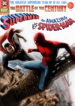 Superman Vs Spiderman by CHUBETO