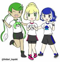 PkMn Sun Moon X Splatoon by HToyoki