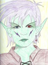 Elf Disdain colored by melydia