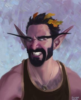 Nick the Night Elf by Enydimon