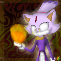 Blaze The Cat #01 by MikaMilaCat
