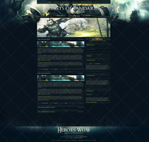 Heroes WoW - Mists of Pandaria Website Template by InsDev