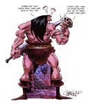 Barbarian and the skull by ChrisFaccone