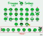 Frog Smileys by monkeyzav