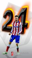 Wallpaper Movil Gimenez Atletico de Madrid by InfiernoRojiblanco