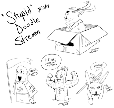 Stupid Doodle Stream | 7-10 | Blasphemy Tales by InsomniaDoodles