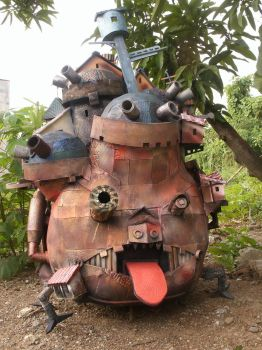Howl's Moving Castle Repainted by pagawanaman