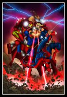 The Man of Steel Vs The Avengers by Helmsberg