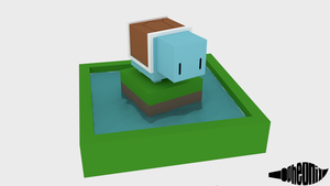 Cube Squirtle by WFpeonix