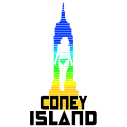 Coney Island 80s graphic by oldblueford