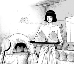 Bread in ancient Egypt by Netsubou