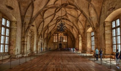 The Vladislav Hall of Prague Castle by pingallery