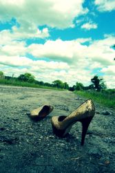 heels don't go well with a dirt road by AnnaRaine
