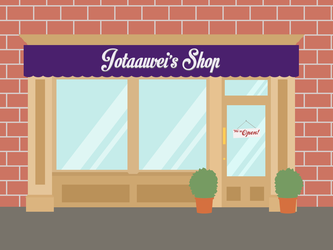 Jotaauveis Shop Sign Cover by jotaauvei